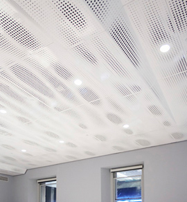 Stabile Center with Perforated Metal Ceiling